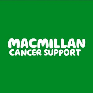 Jacksons Opticians supported by Macmillan Cancer Support (logo)